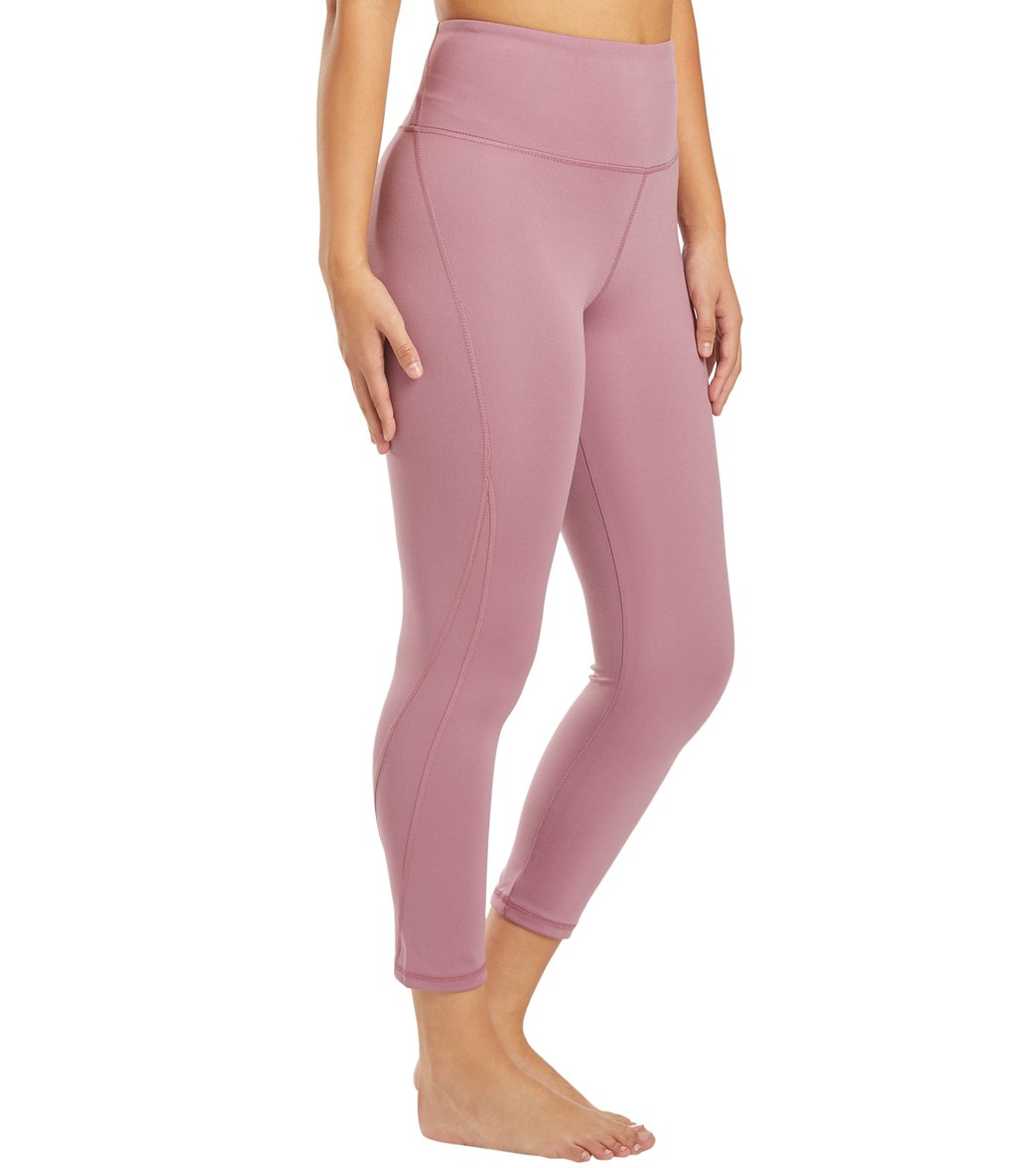 Balance Collection Briar High Waisted Yoga Capri Pants - Dusky Orchid Cotton