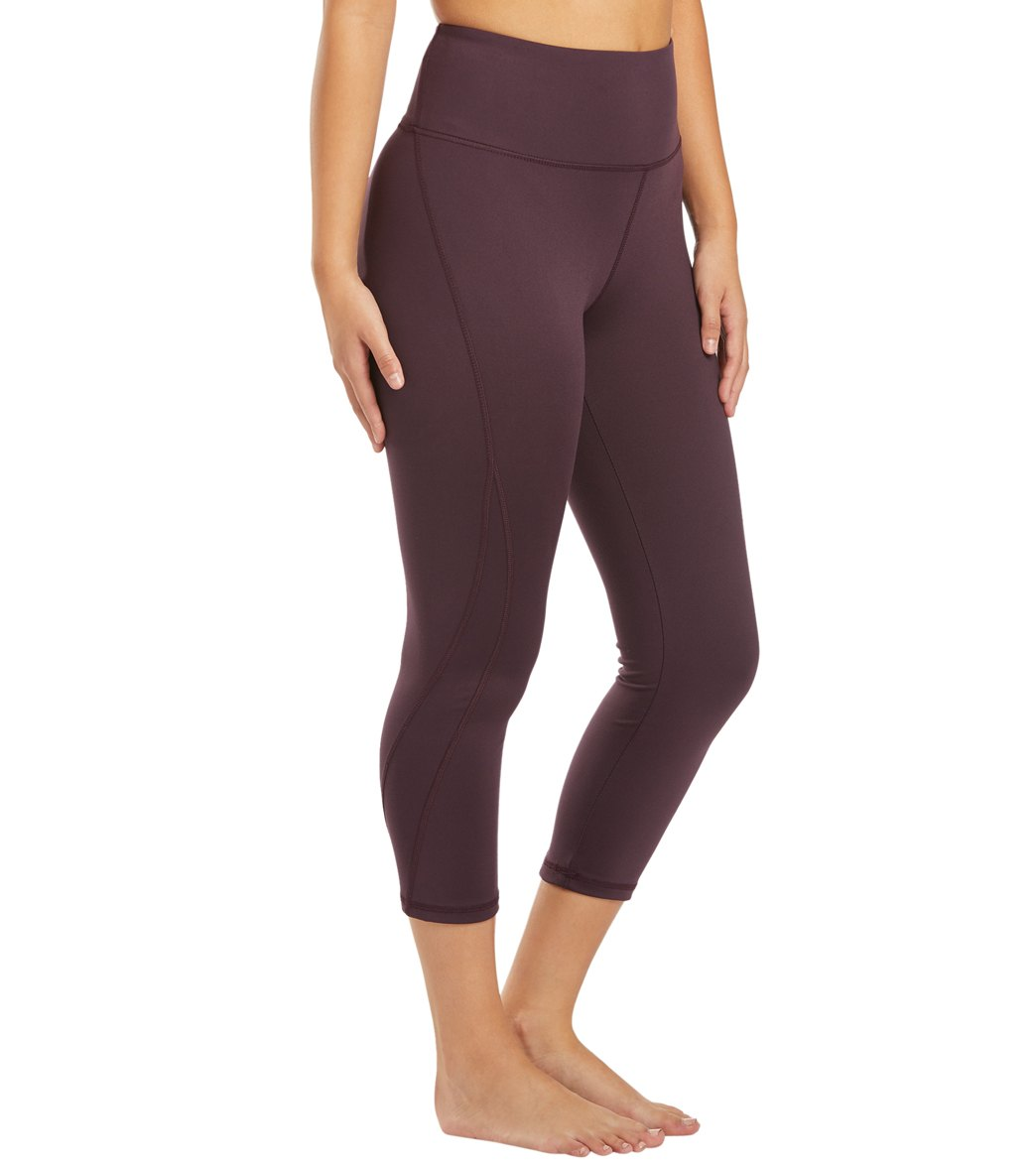 Balance Collection Briar High Waisted Yoga Capri Pants - Wild Plum Cotton