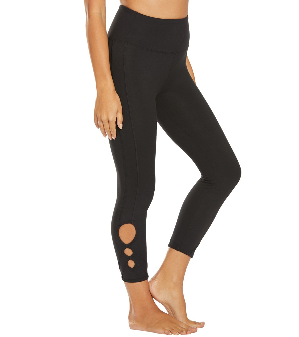 Balance Collection Miranda Yoga Capri Pants - Black Cotton