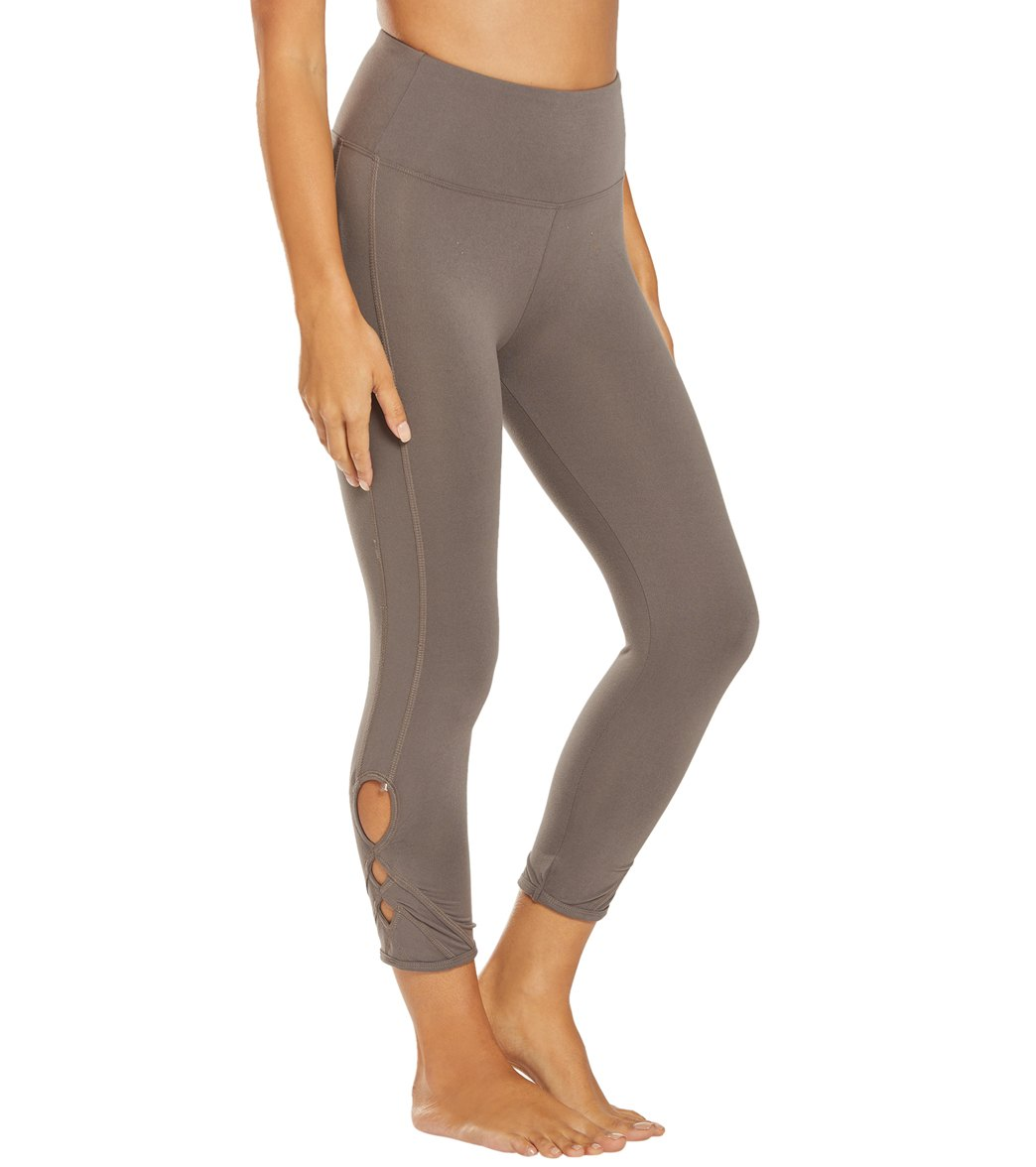 Balance Collection Miranda Yoga Capri Pants - Plum Kitten Cotton