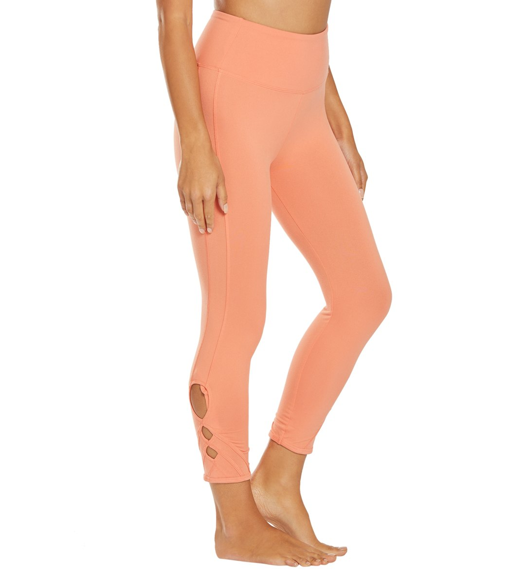 Balance Collection Miranda Yoga Capri Pants - Burnt Coral Cotton