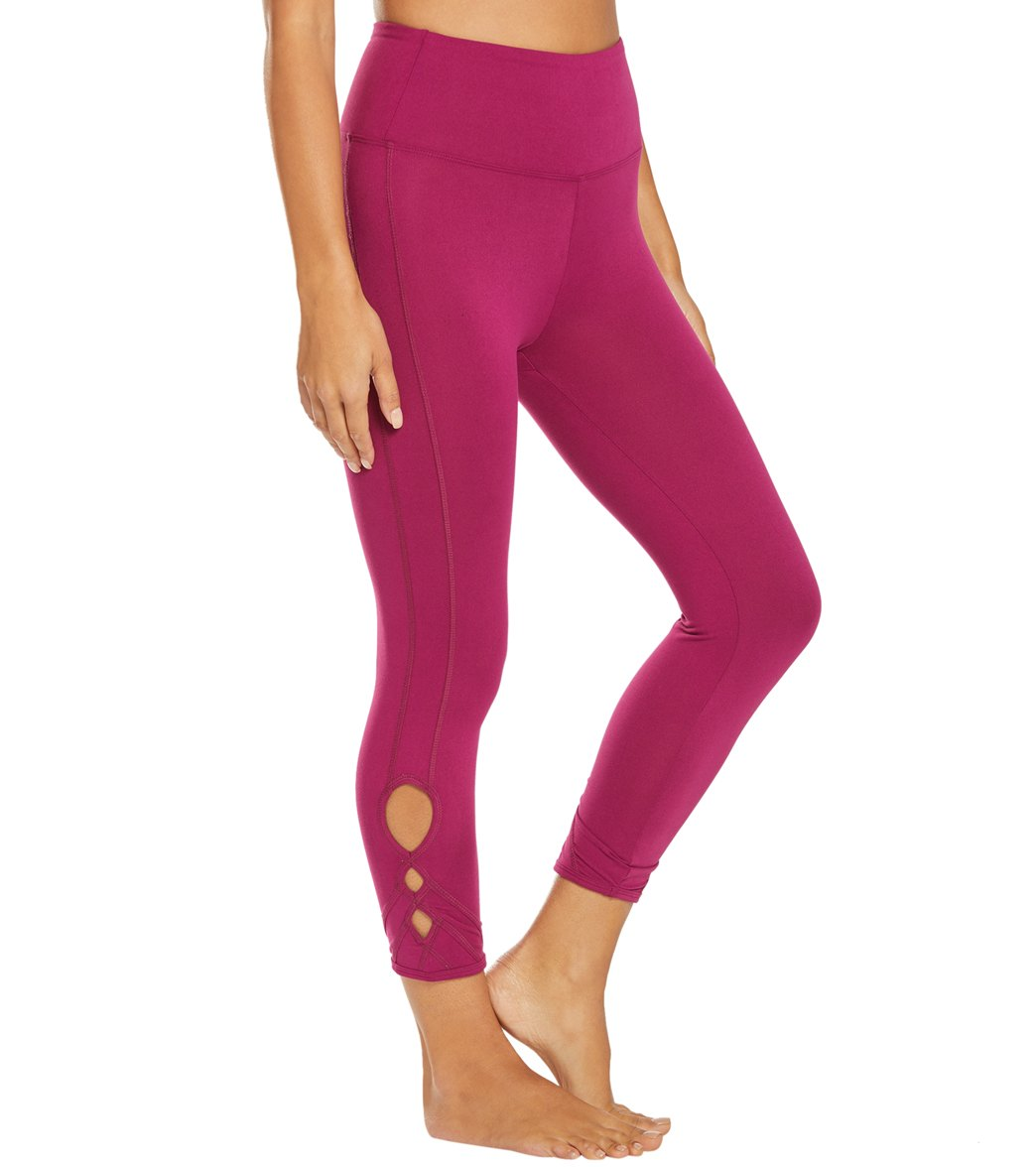 Balance Collection Miranda Yoga Capri Pants - Magenta Lust Cotton