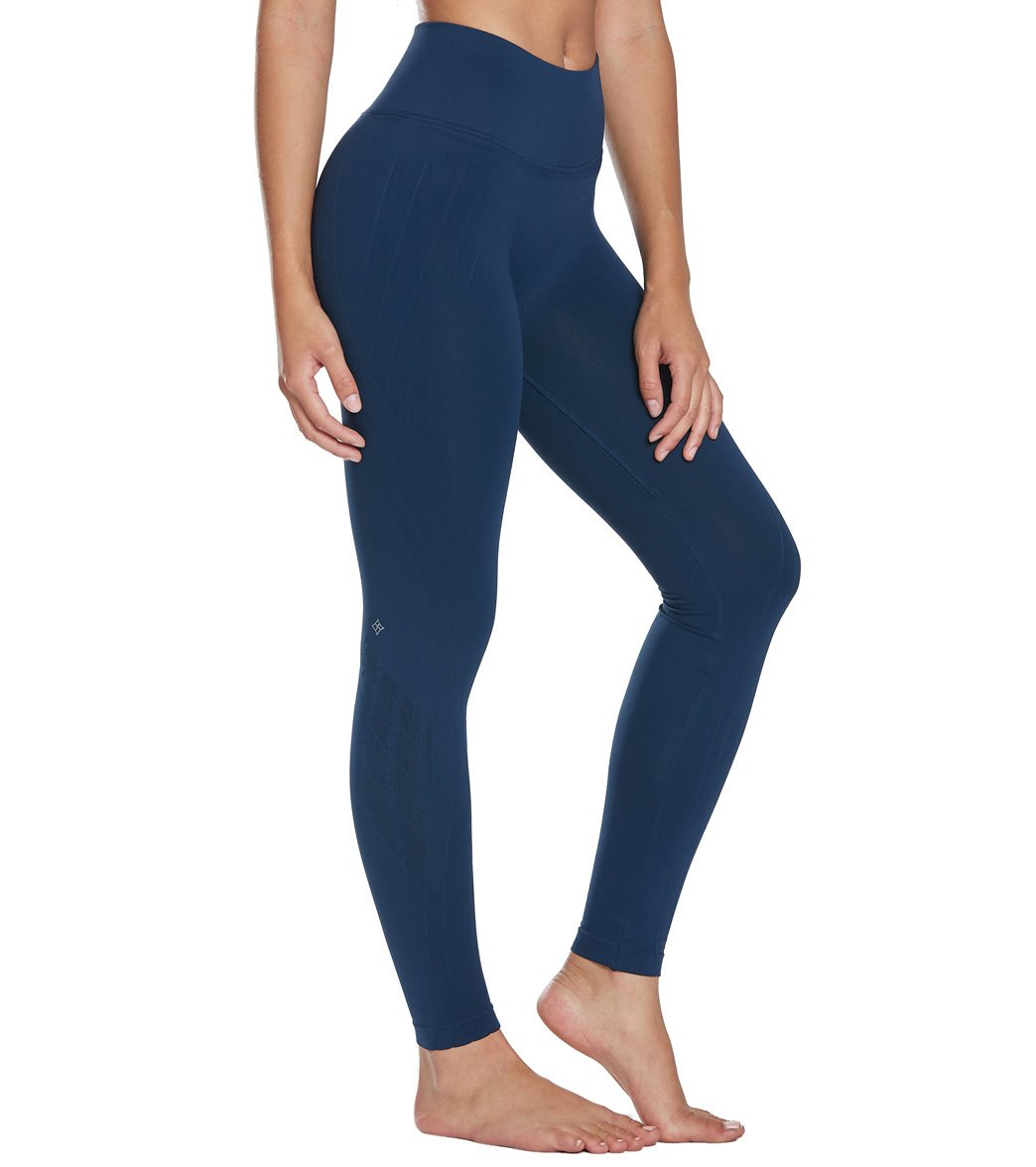 NUX Mesa Seamless Yoga Leggings - Navy Blue Spandex
