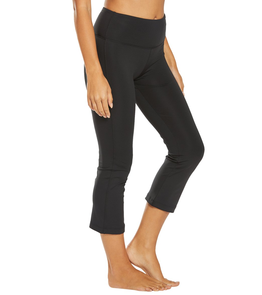 Balance Collection Hattie Flare Yoga Capri Pants - Black Cotton