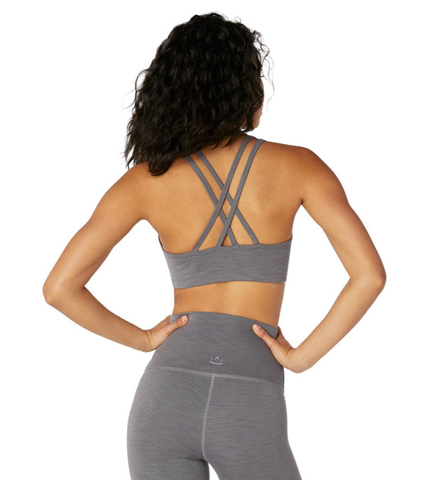 Beyond Yoga Heather Rib Yoga Sports Bra