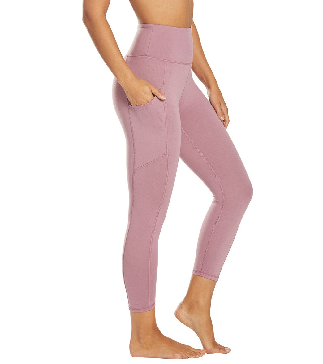 Balance Collection Eclipse Contender Yoga Capri Pants - Dusky Orchid Cotton