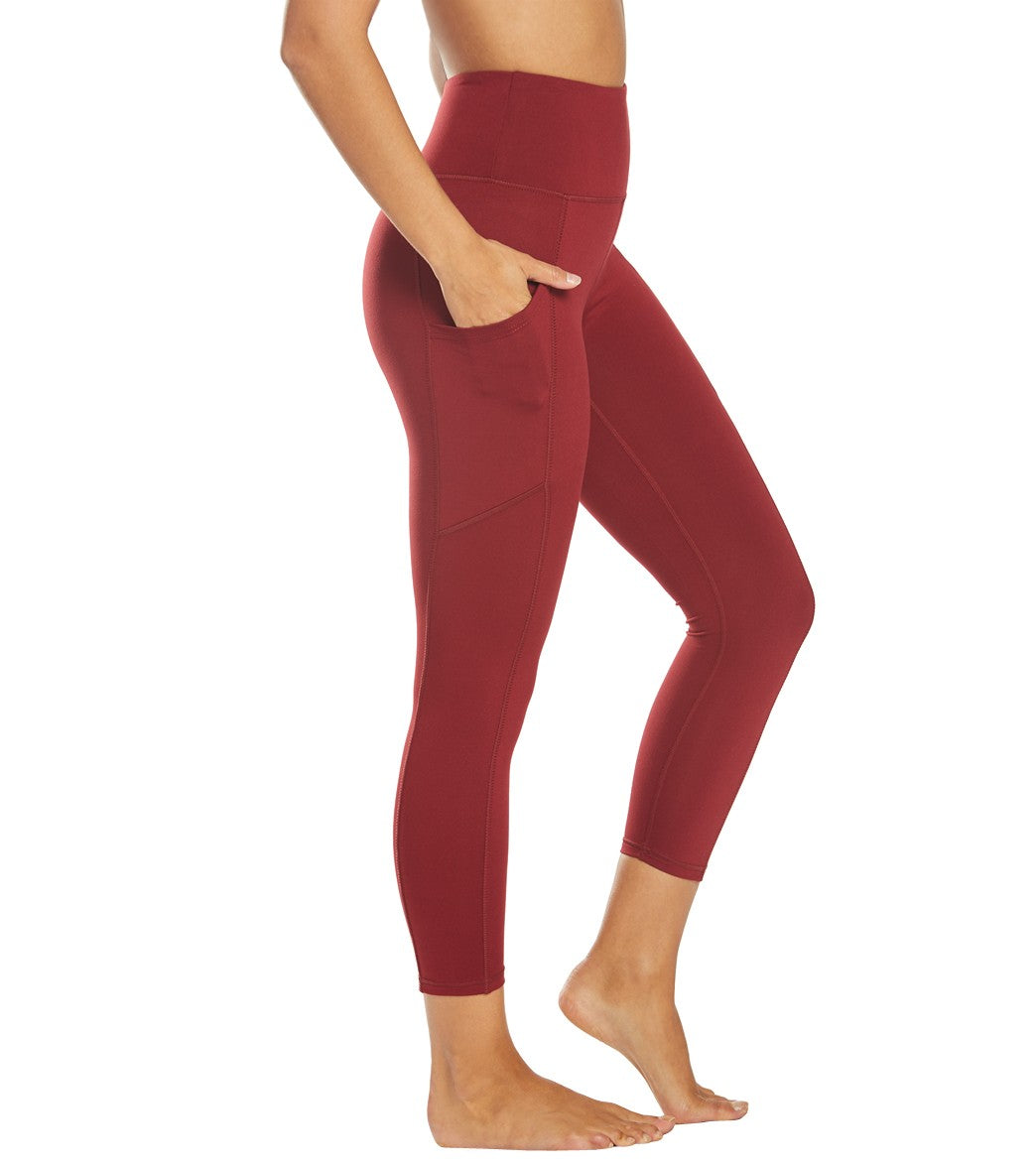 Balance Collection Eclipse Contender Yoga Capri Pants - Pomegrante Cotton