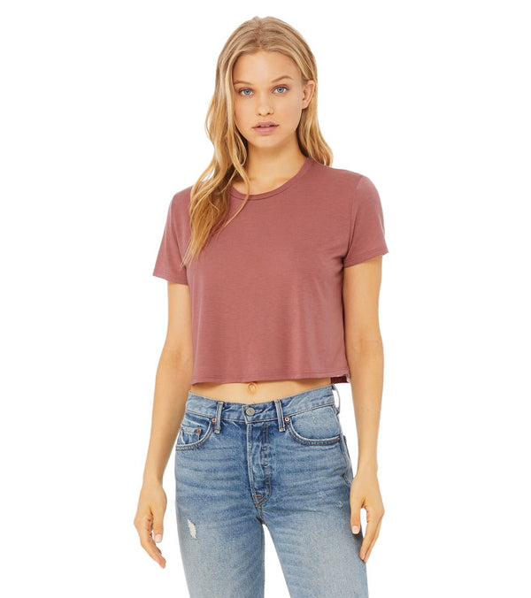 Bella + Canvas Flowy Cropped Tee