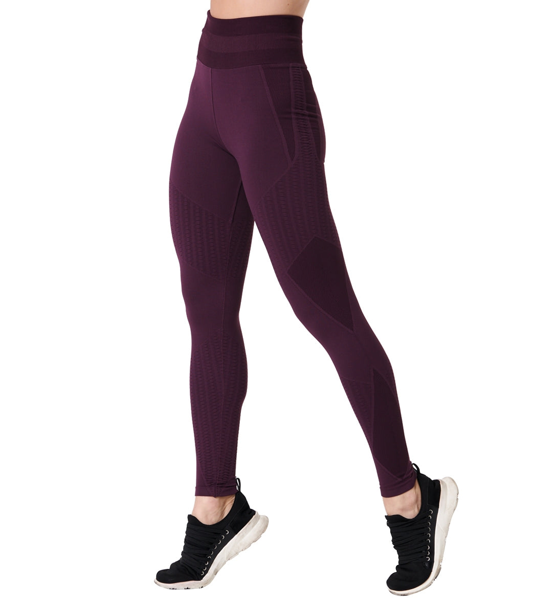 NUX Sphere Yoga Leggings - Purple Nights Spandex