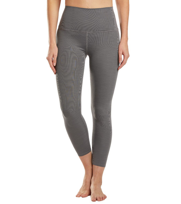 Beyond Yoga Heather Rib High Waisted 7/8 Yoga Leggings