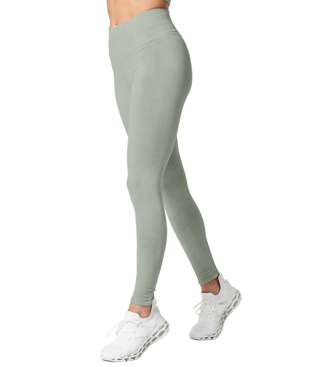 NUX One By Seamless Yoga Leggings - Wash Hidden Green Vintage Spandex