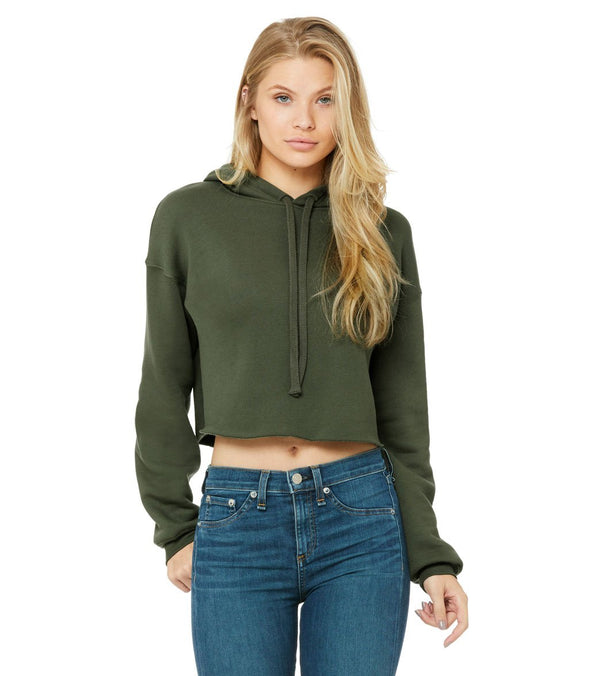 Bella + Canvas Cropped Fleece Hoodie