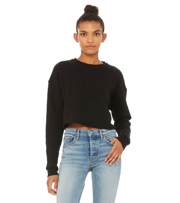 Bella + Canvas Cropped Crew Fleece Pullover