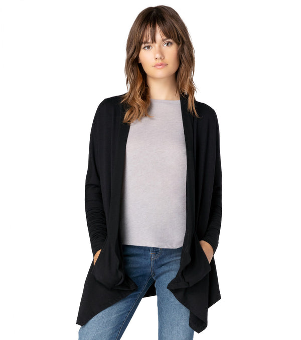 Beyond Yoga Ribbed Draped Yoga Cardigan