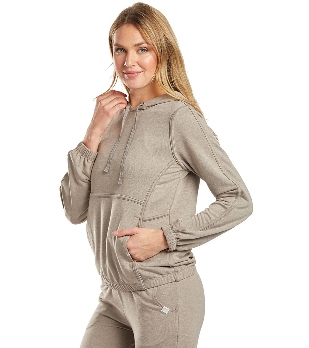 Marika Womens Long Sleeve French Terry Pullover Hoodie
