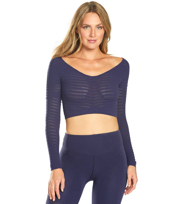 Free People Movement Gone Adrift Seamless Long Sleeve