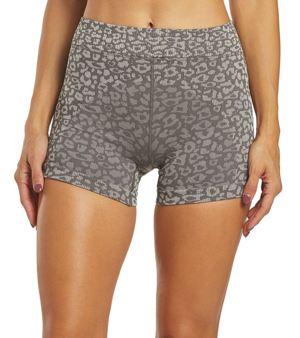Free People Movement Leopard Yoga Shorts