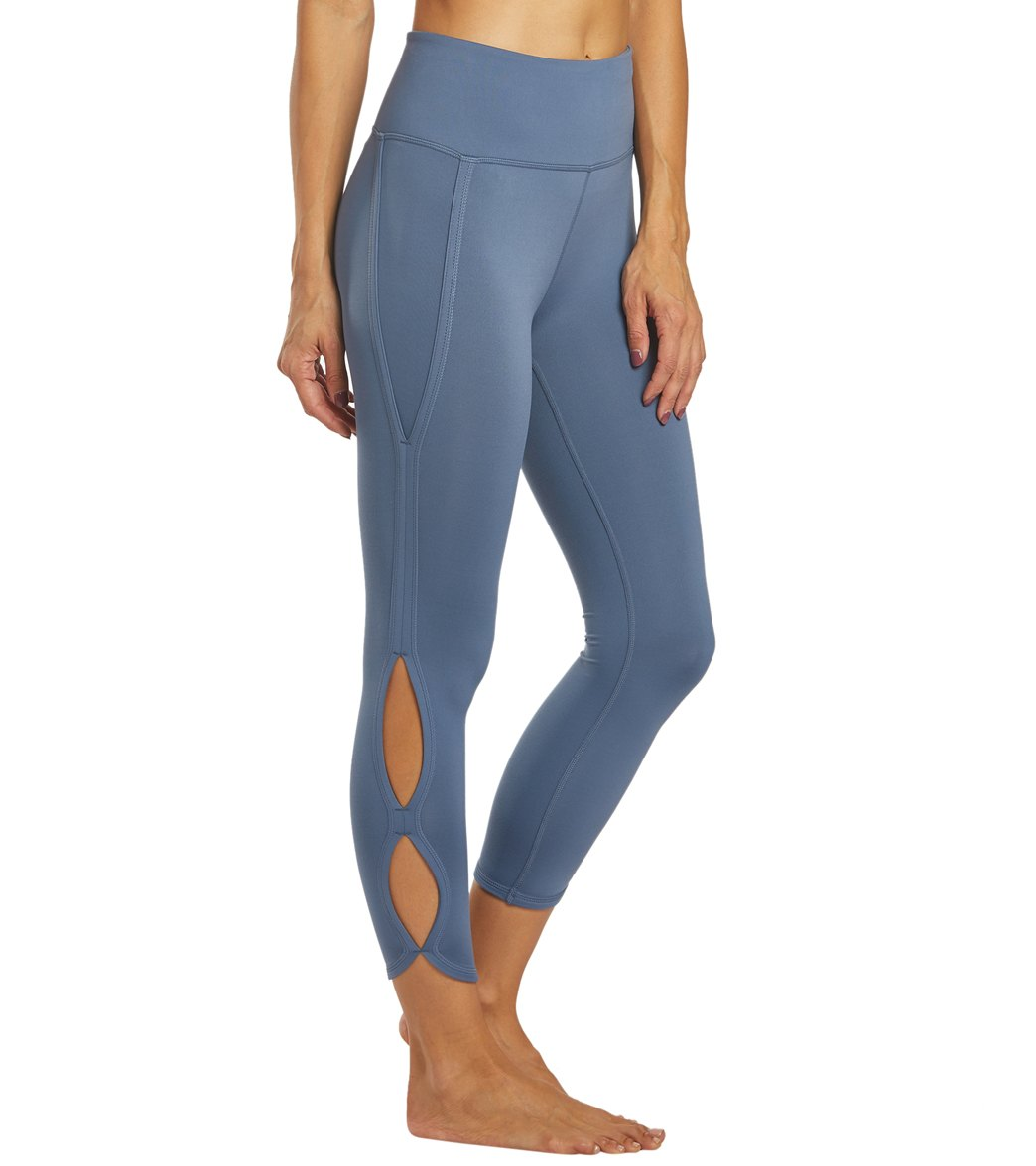Free People Movement High Rise Infinity Yoga Leggings - Slate Spandex