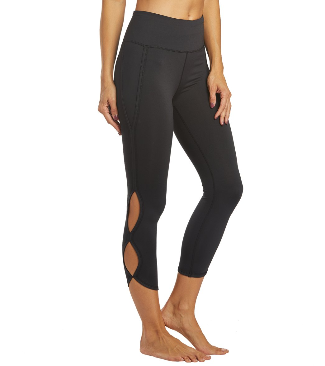 Free People Movement High Rise Infinity Yoga Leggings - Black Spandex