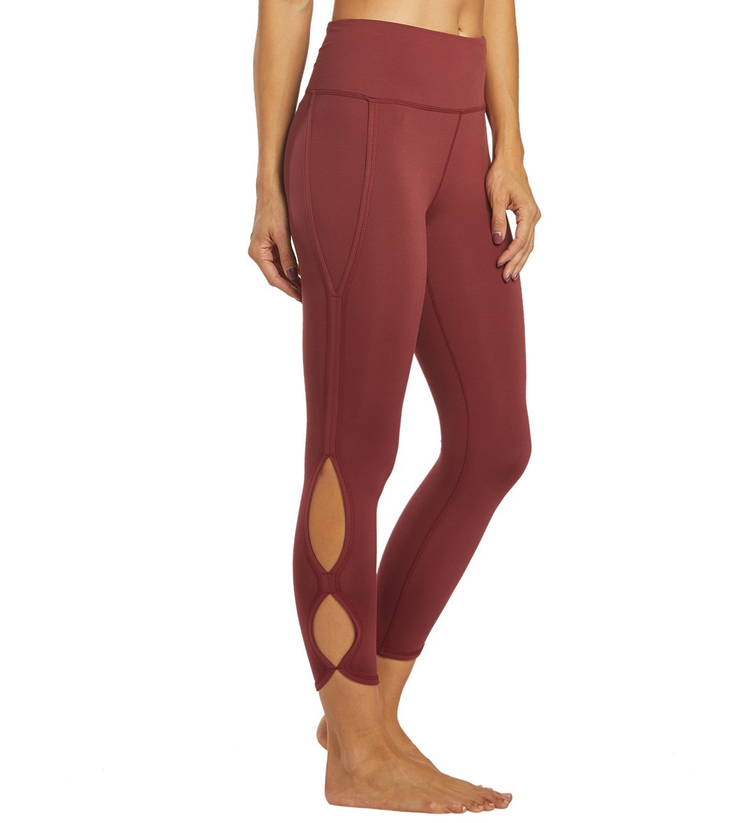 Free People Movement High Rise Infinity Yoga Leggings - Wine Spandex