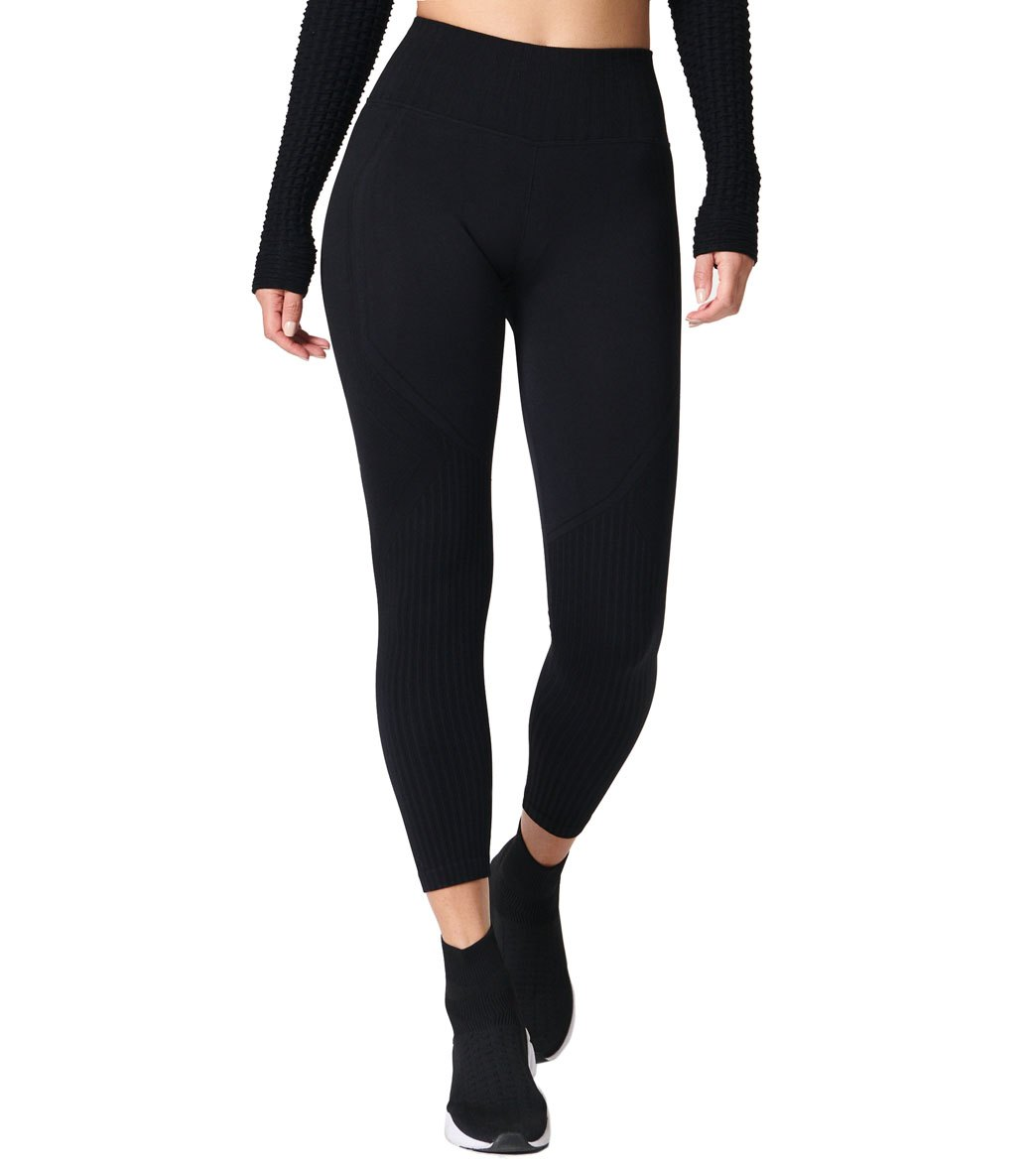 NUX Seamless Elevate Yoga Leggings - Black Spandex