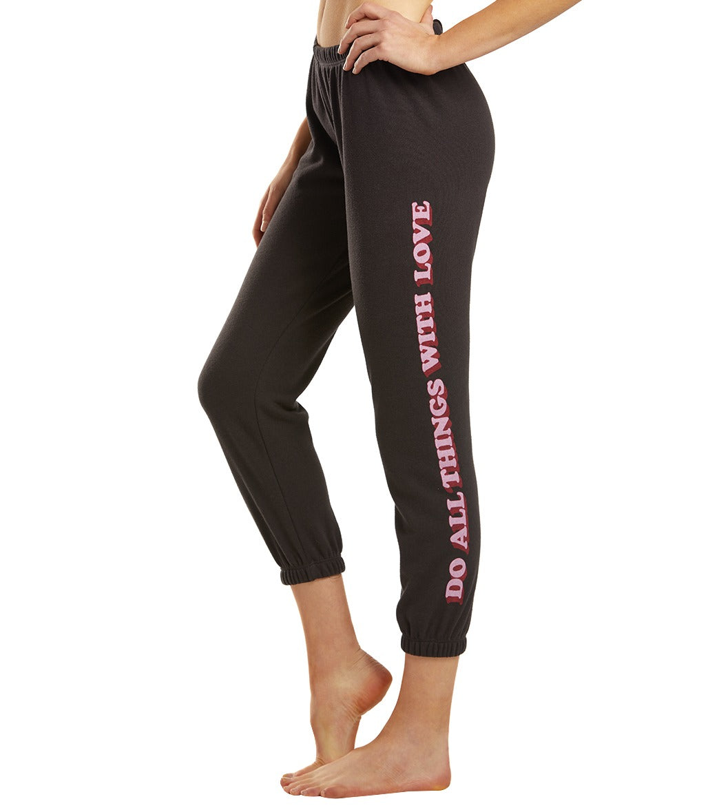 Spiritual Gangster All Things Perfect Sweatpants - Vintage Black Cotton