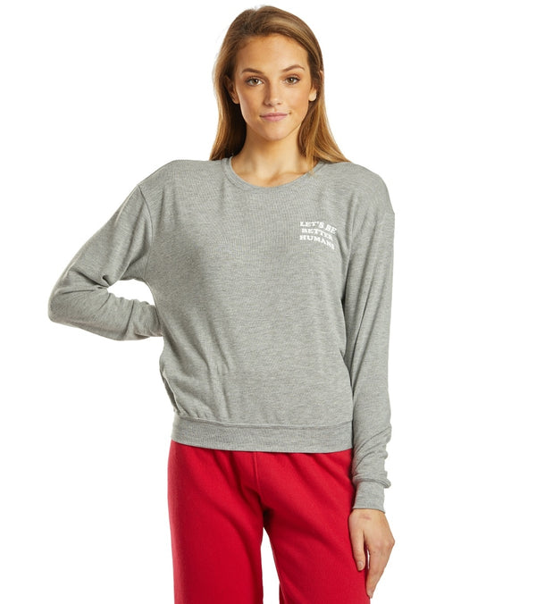 Spiritual Gangster Let's Be Crew Neck Savasana Pullover