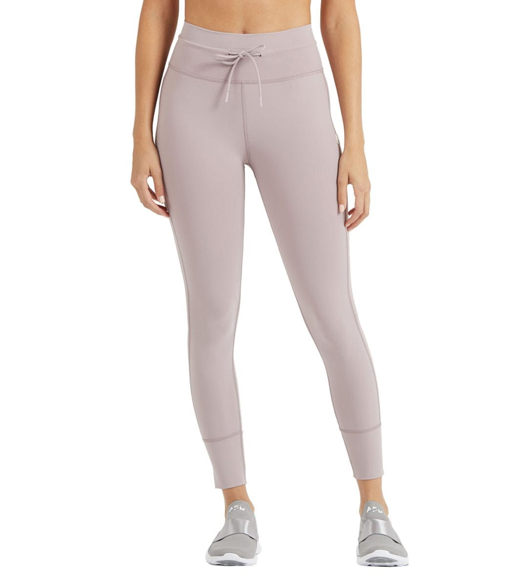 The name speaks for itself, wear the Vuori Daily Leggings on the daily. Features4-way stretch Moisture wicking Quick drying Compressive fit 24 inseam Cut like a jogger but fits like a legging Great for yoga, running, travel, and chillingDetailsFabric: 81% Nylon, 19% LycraColor: Black, PurpleStyle Features: NoneFit: TightInseam: 24\\\
