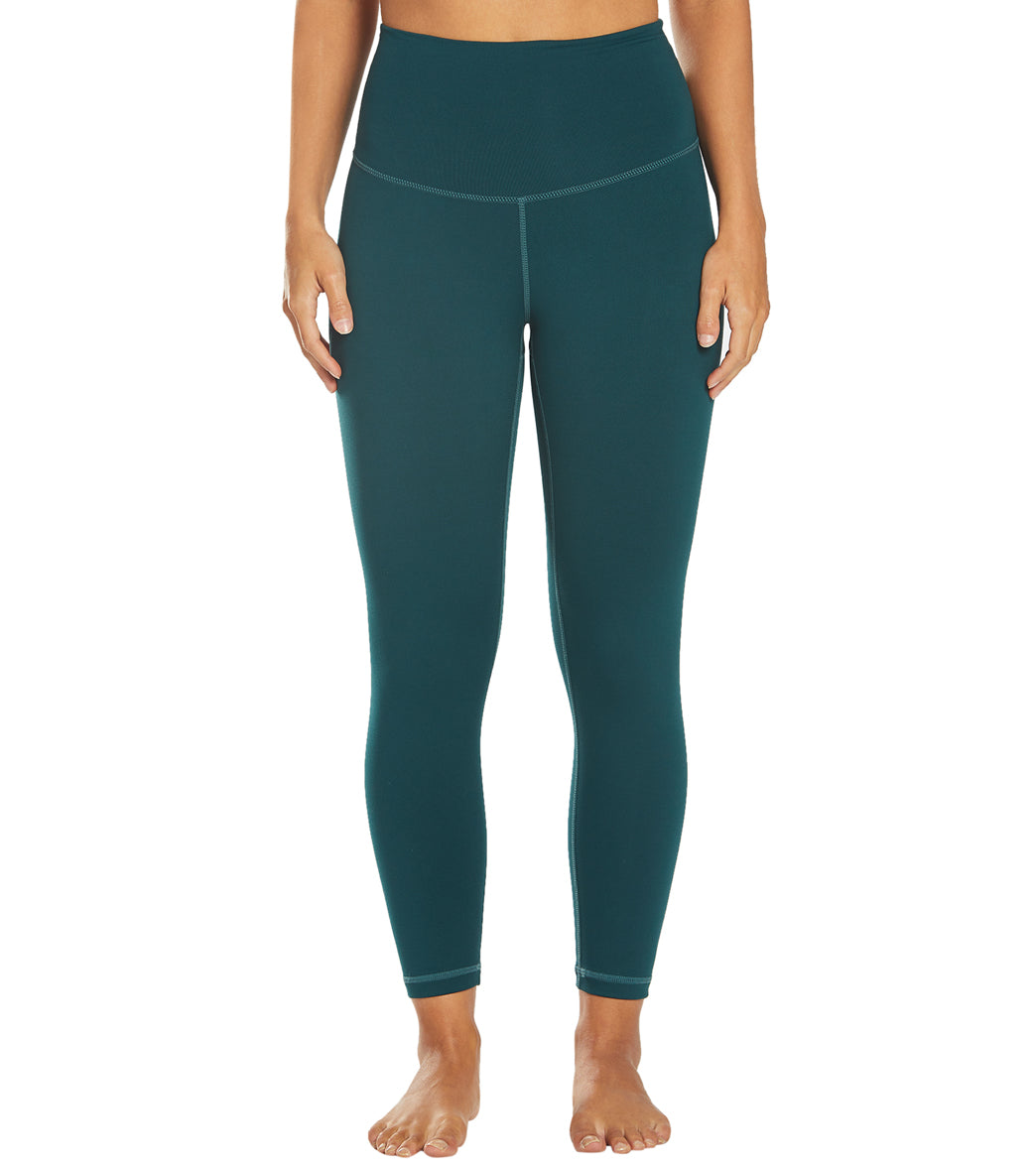 DYI Signature Jersey Moss High Waisted 7/8 Yoga Leggings - Forest Spandex