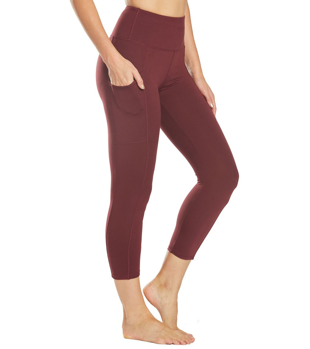 Balance Collection Eclipse Lux Yoga Capri Pants - Fig Cotton