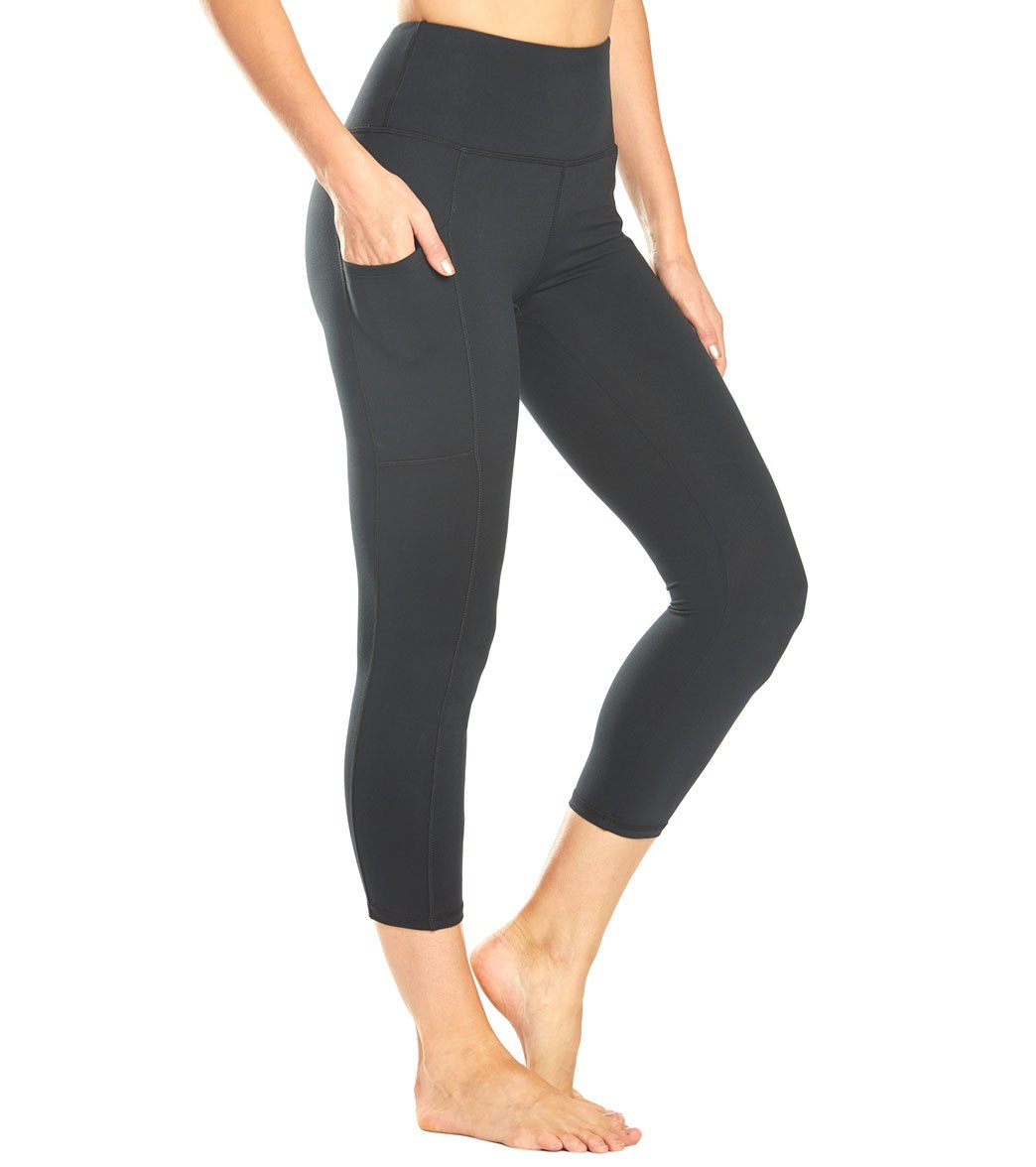 Balance Collection Eclipse Lux Yoga Capri Pants - Black Cotton
