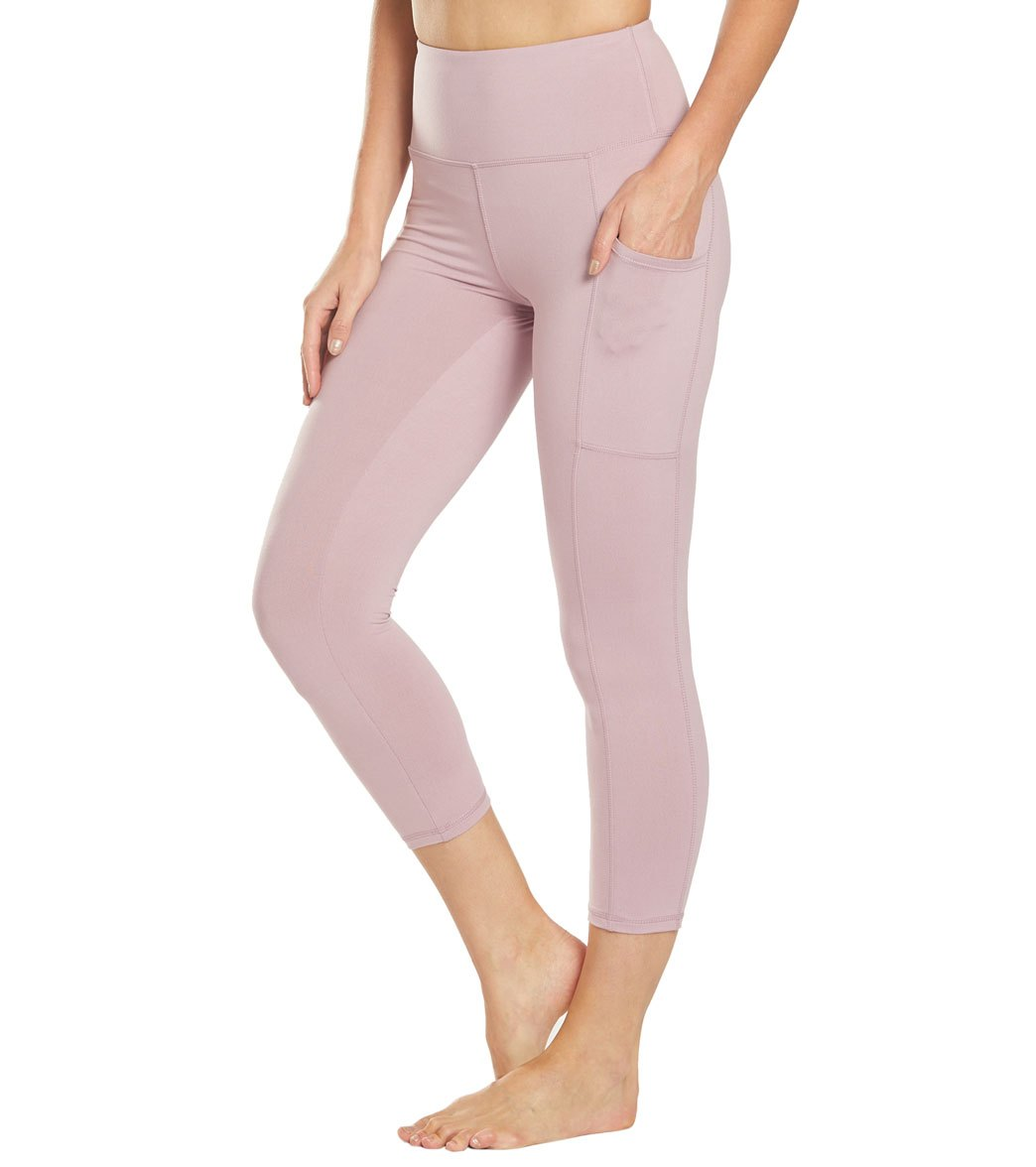 Balance Collection Eclipse Lux Yoga Capri Pants - Mauve Shadows Cotton