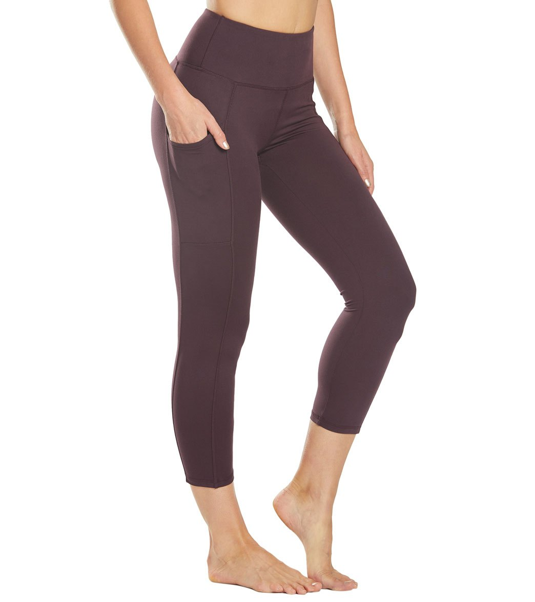 Balance Collection Eclipse Lux Yoga Capri Pants - Wild Plum Cotton