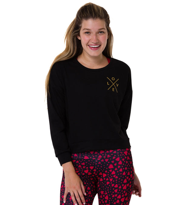 Onzie Basic Crew Love Gold Sweatshirt