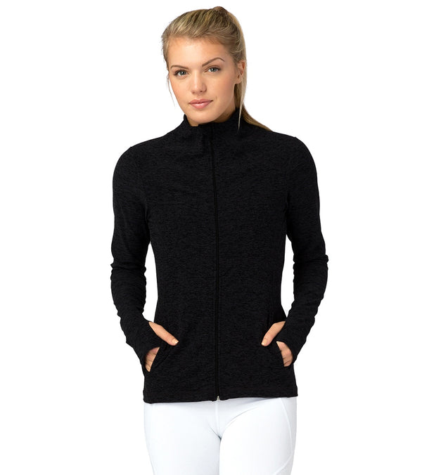 Beyond Yoga Spacedye Fitted Mock Neck Jacket