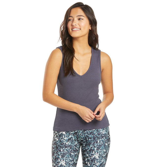 Hard Tail Deep V Yoga Tank Top