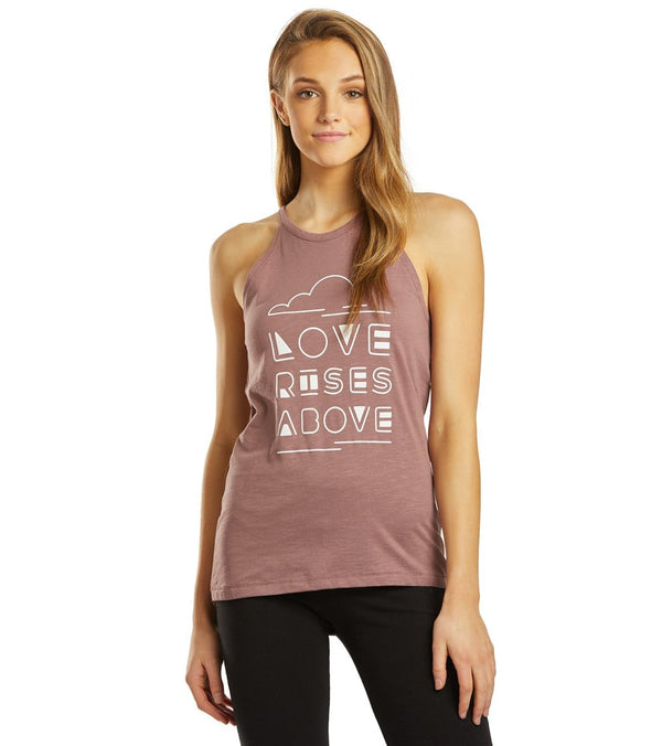 SuperLoveTees Love Rises Above Yoga Halter Tank