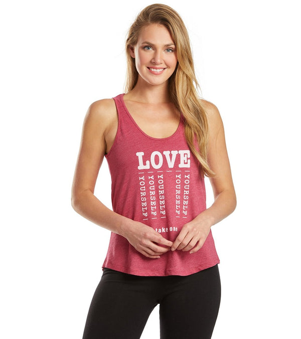 SuperLoveTees Love Yourself Yoga Muscle Tank