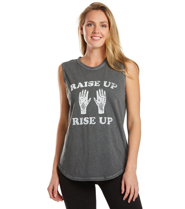 SuperLoveTees Raise Up Rise Up Yoga Muscle Tee