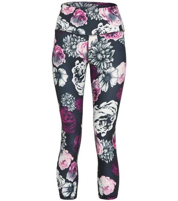 "Balance Collection Printed Contender 22"" High Waisted Yoga Capris"