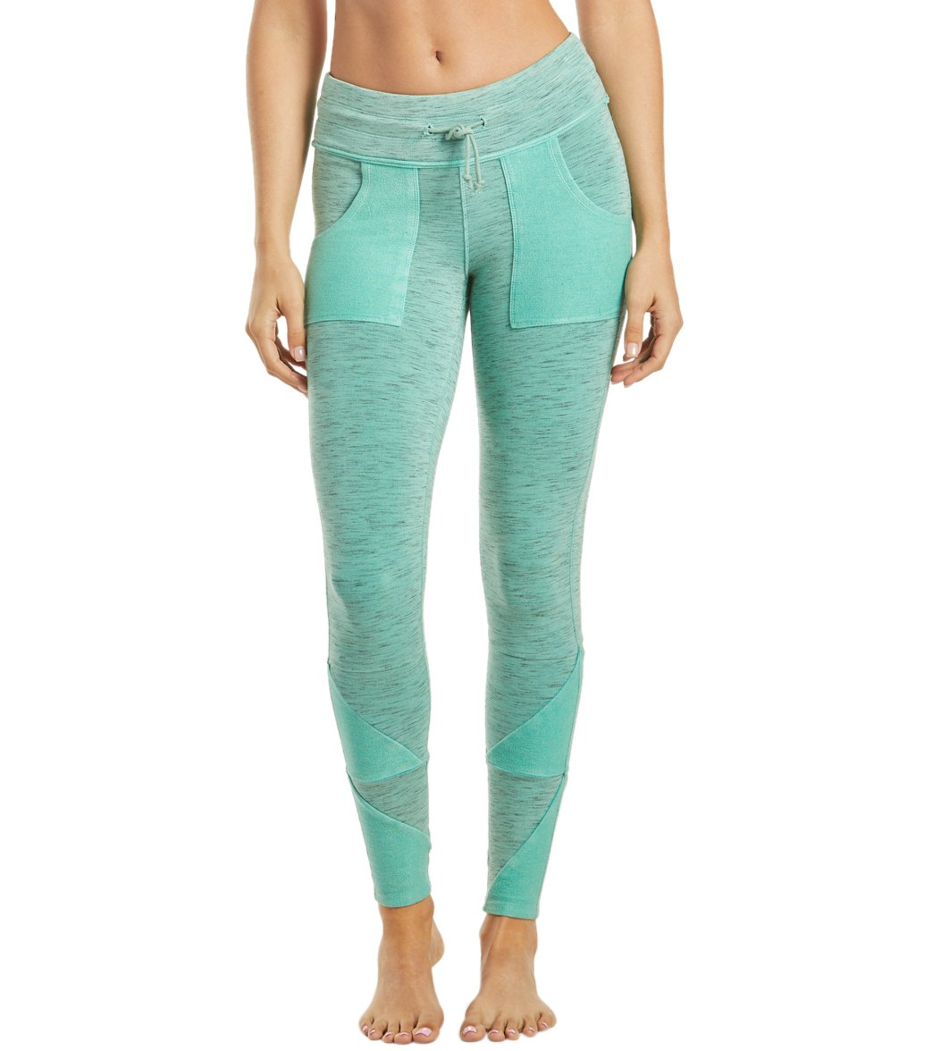 Free People Movement Kyoto Workout Leggings - Blue Green Cotton