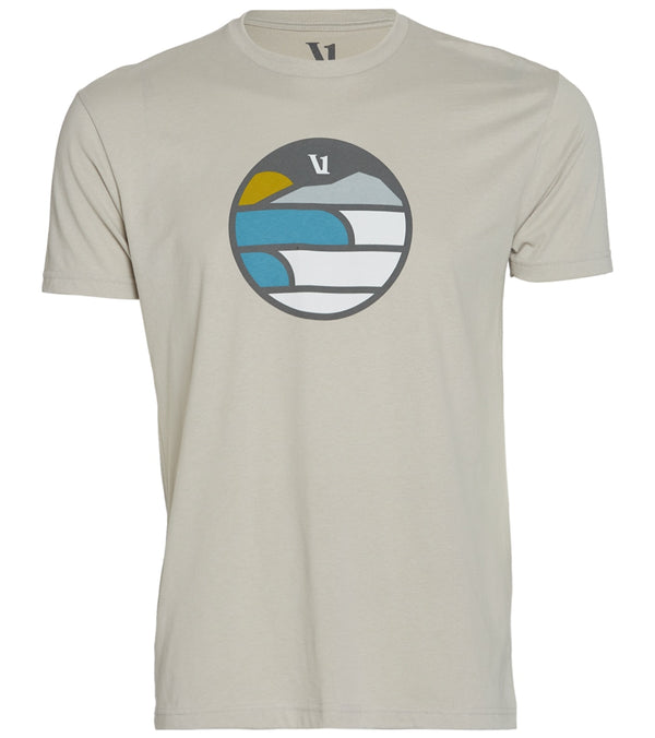 Vuori Men's Waves Mountain Sun Yoga Tee