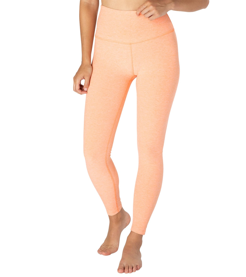 The Beyond Yoga Spacedye Caught In The Midi High Waisted 7/8 Yoga Leggings are an essential piece for your active lifestyle. With all the same properties as Beyond Yoga\\\'s best high-waisted legging, these flattering shorter length leggings reach just above your ankles for a versatile look you can wear ever day of the week. Features 5\\\