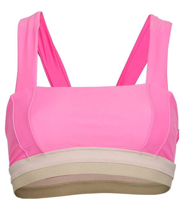 Free People White Water Yoga Sports Bra