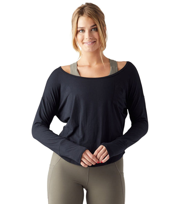 Glyder Throwback Long Sleeve Yoga Tee