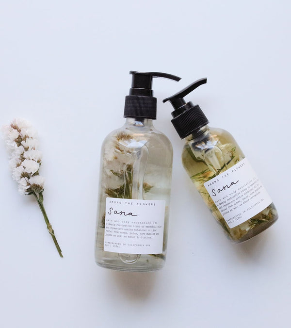 Among The Flowers Sana 'Healthy' Bath + Body Meditation Oil