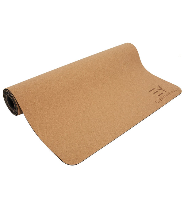 Everyday Yoga Cork Yoga Mat 72 Inch 5mm
