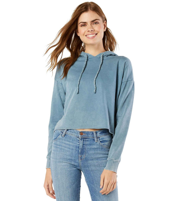 Beyond Yoga Hey Chambray Washed Terry Cropped Hoodie