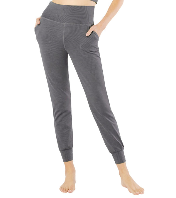 Beyond Yoga Heather Rib Midi Joggers