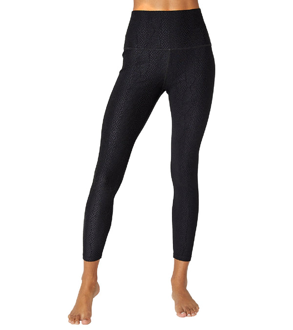Beyond Yoga Snake Jacquard High Waisted 7/8 Yoga Leggings